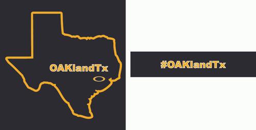 OAKlandTx t-shirt in black (front/back)