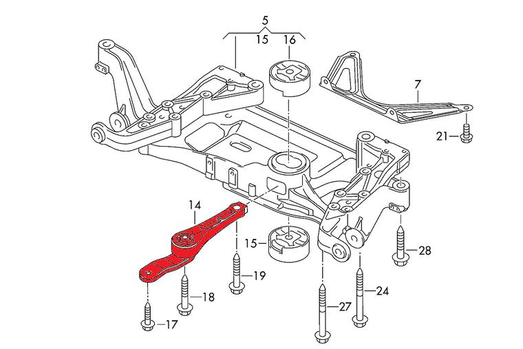 Billet dogbone mount  Audi TT 8J A3 S3 8P VW Golf Mk5 Mk6