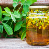 St Johns Wort Infusion In Sunflower Oil.