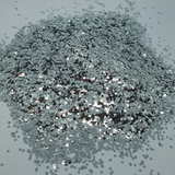 Silver Biodegradable Cosmetic Glitter