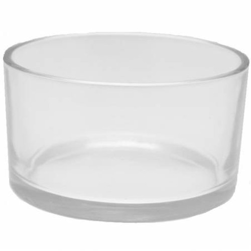 50cl Clear Glass 3-Wick Bowl