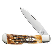 CASE / BOSE Tribal Lock 4.13in 6.5 Bonestag Handle Traditional Folding Knife (65312)