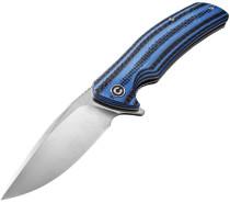 CIVIVI Incite Satin Drop Point Layered Blue G10 and Carbon Fiber Handle Folding Knife