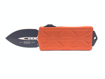 MICROTECH Exocet 1.98in Black Dagger Orange Aluminum Handle Automatic Out-The-Front Knife (157-1OR)