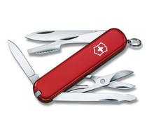 VICTORINOX SWISS ARMY Executive 2.88in Red Cellidor Handle Multi-Tool (0.6603-033-X1)