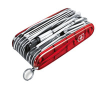VICTORINOX Swiss Army Swiss Champ XLT Ruby Cellidor Handle Multi Tool