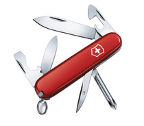 VICTORINOX Swiss Army Tinker Red Cellidor Handle Multi Tool