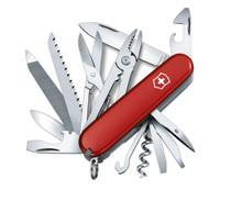 VICTORINOX SWISS ARMY Handyman 3.6in Red Cellidor Handle Multi-Tool (53722)