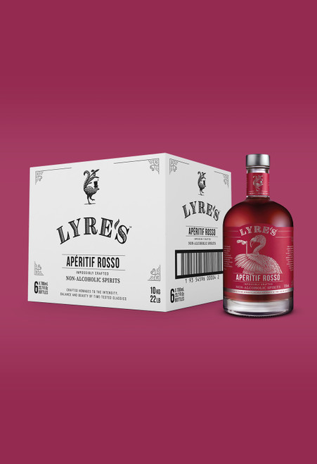 Aperetif Rosso Non-Alcoholic Spirit - Sweet Vermouth Case Of 6 | Lyre's
