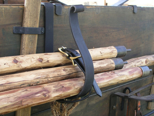 Forged Steel and Leather Supports for Fly Poles