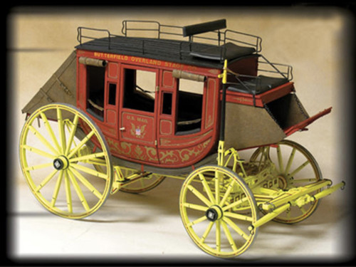 9 Passenger Western Mail Coach 1:12 Scale Model Kit-Stagecoach Model