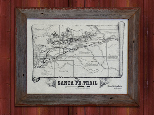 Santa Fe Trail Map Poster-Poster Only