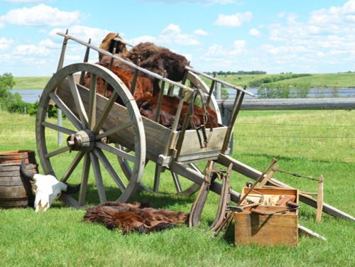 Replica Red River Cart