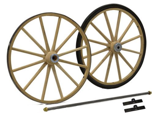 Small Wagon or Cart Wheels with Axle Assembly