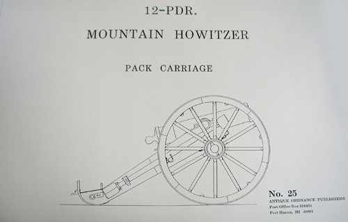 Civil & Indian War 12- Pounder Mountain Howitzer on a Pack Carriage-Cannon Plans