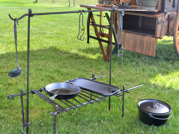 Camp Cooking Bipod-Hand Forged