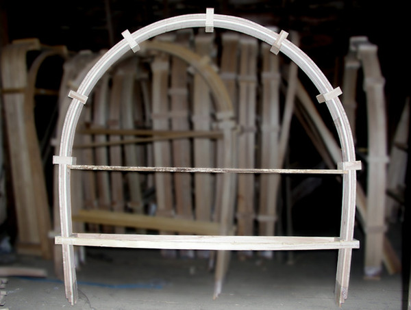 6 foot wide steam bent wagon bows