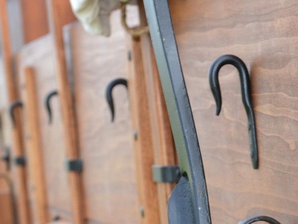 Hand Forged Tarp Hooks for Canvas Wagon Cover