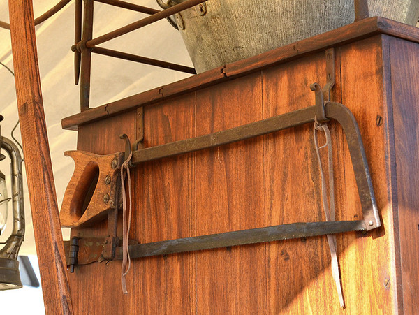 Antique Meat Saw with Hand Forged Hangers
