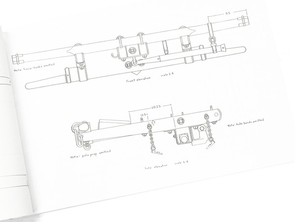 12-Pdr. Mountain Howitzer-Second Model Prairie Carriage Limber-Cannon Plans