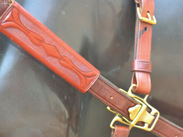 1880's Style Team Harness with Wood Hames