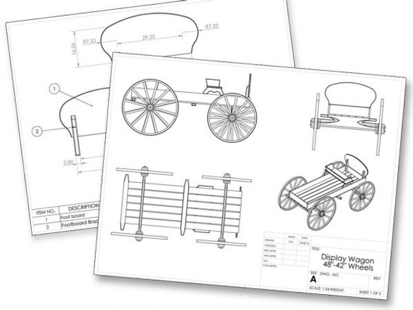 Display Buckboard Wagon Kit-Full Size