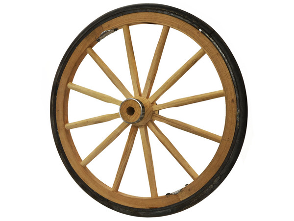 "Wood Vending Cart Wheels 24""- 28"""
