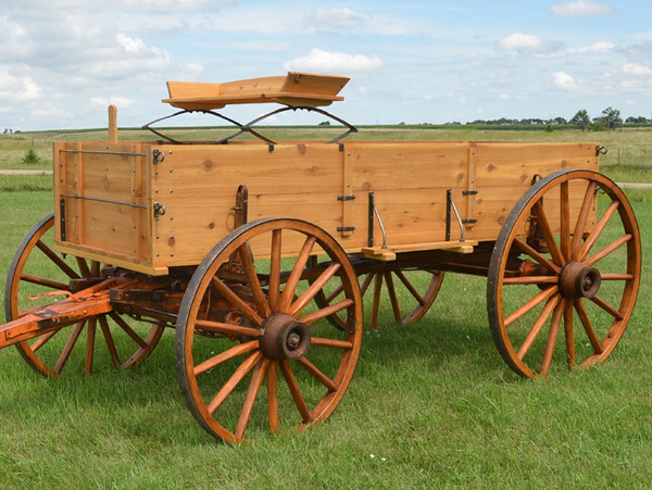 Rustic Western Display Wagon