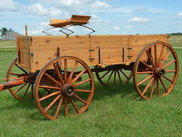 Rustic Western Display Wagon