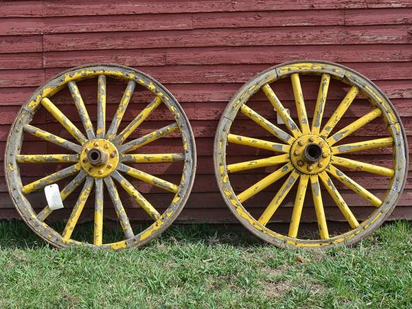 """Original Army Wagon Wheels-One Left-44"""" x 3"""""""