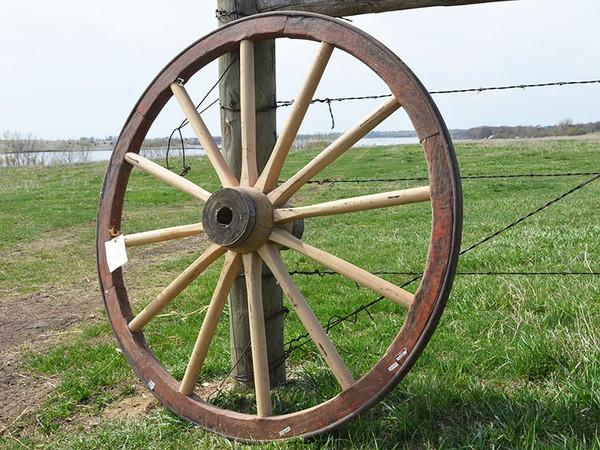 "Repaired Wagon Wheel-43"" x 1 3/4"""