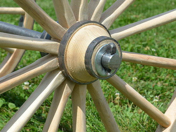 """Scale Cannon Wheel with Lynch Pin Axle 24""""-30"""" Dia."""