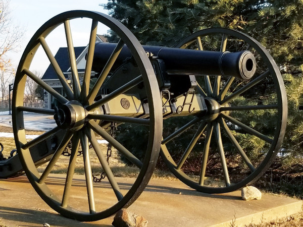 "Civil War Cannon Wheel-Extra Heavy-57"" x 3"""