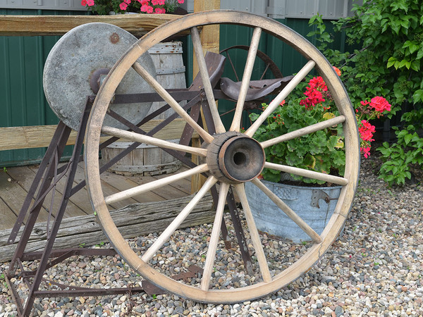 "Hand-Crafted Wagon Wheel-39"" X 1 1/2"" - LAST ONE"
