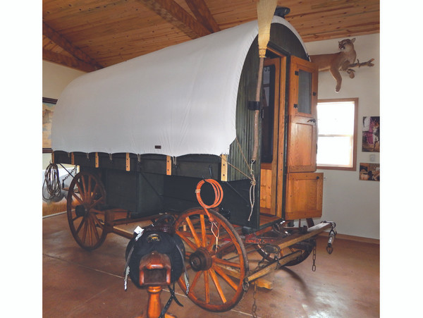 Sheepherder Wagon with Canvas Top - SOLD