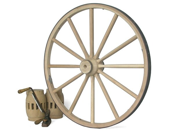 "Wooden Wagon Wheel-Premium 42""-48"" x 1 1/2"""