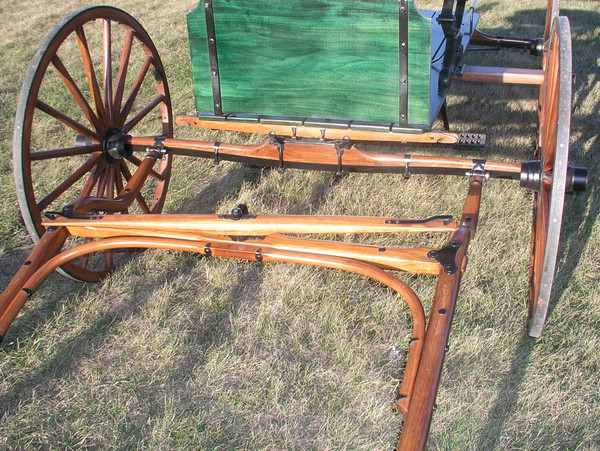 Double Bend Surrey and Spring Wagon Shafts for Horses
