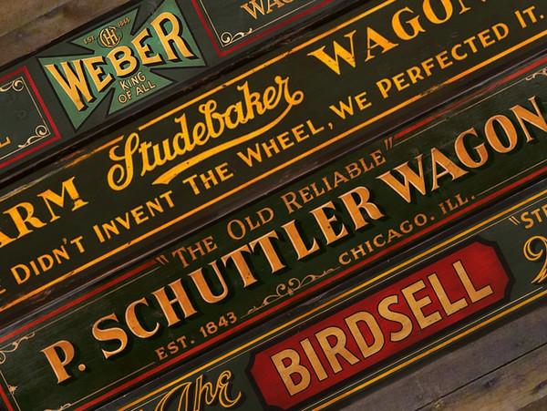 Vintage Western Wagon Signs