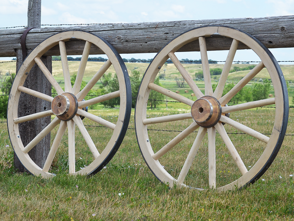 "Authentic-Style Howitzer Cannon Wheel-Each 38""-42"" x 2"""