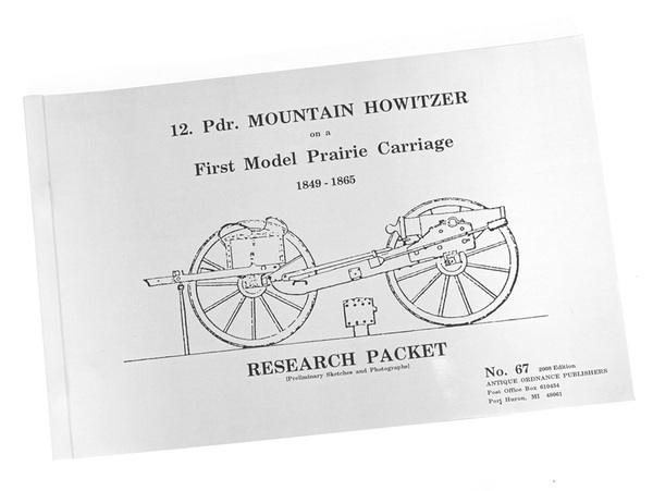 12-Pounder Mountain Howitzer on First Model Prairie Carriage-Cannon Plans