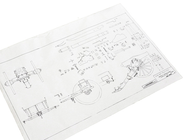 Civil War Cannon and Limber Field Piece Plans