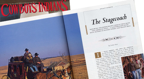 """Craftsmen Article on """"The Stagecoach"""" Published in Cowboys & Indians"""