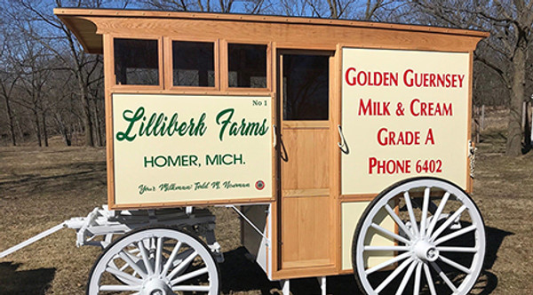 Historic Milk Wagon Built by Customer
