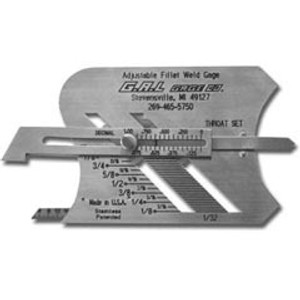 G.A.L. Gage Co. : No: 3 Adjustable Fillet Gauge
