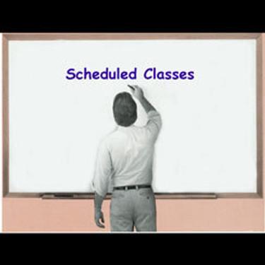 Scheduled Classes