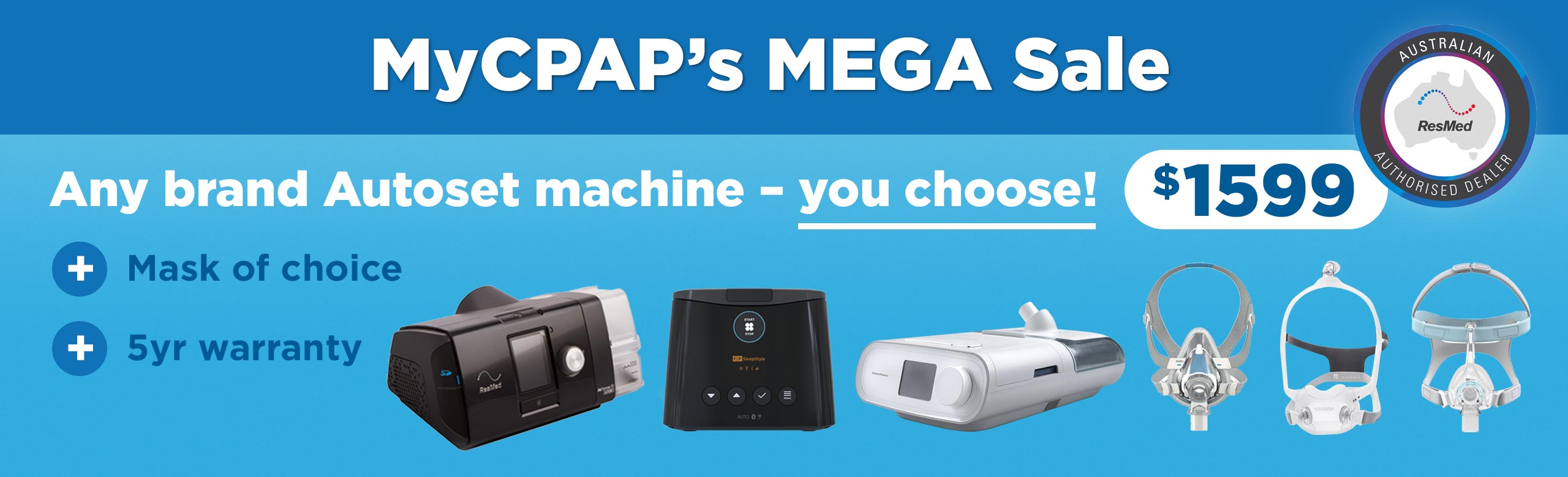 CPAP Machines For Sale in Australia | Buy CPAP Supplies | MyCPAP