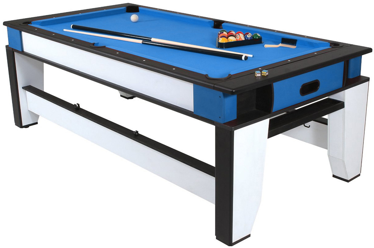 Playcraft Double Play 2-in-1, 7 Foot Billiards and Air Hockey Table