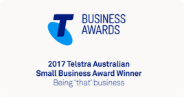 Business Awards 2017 Telstra Australian Small Business Award Winner