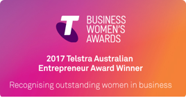 Business Women's Awards 2017 Telstra Australian Entrepreneur Award Winner