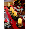 Candle Holder with LED Candle - Set of 2